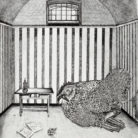 Maxim Gorky the Chicken Detained in the Peter and Paul Fortress, St. Petersburg / 35.5 x 28 cm / 2011